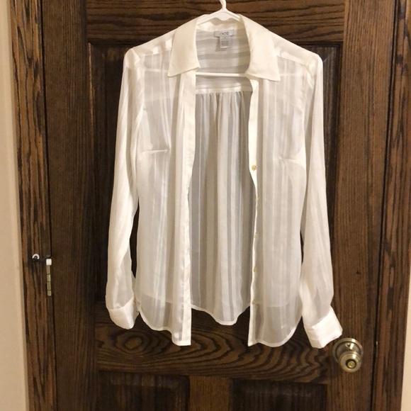 Cache Tops - White dressy shirt